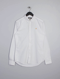 Farah Brewer Slim Shirt White