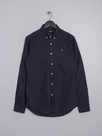 Farah Brewer Slim Shirt Navy